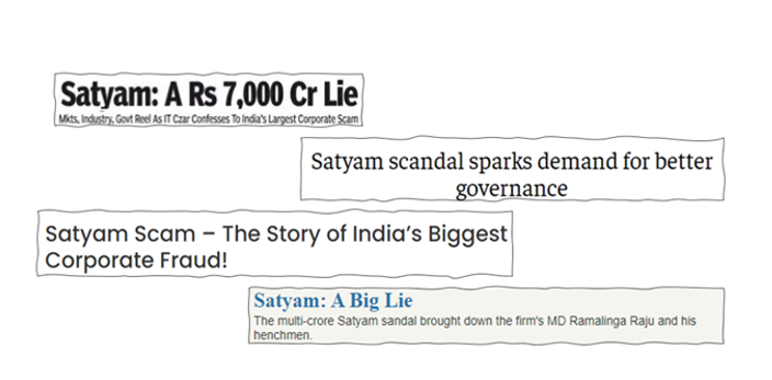 The Satyam Scam – A whopping Rs.7,000 Cr fraud